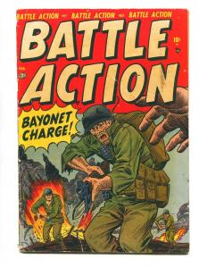 BATTLE ACTION #1 1952-ATLAS-COMBAT CASEY-JOE MANEELY-VG-