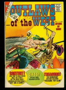 Outlaws of the West #35 1961- Charlton Western- Masked Raider- VF