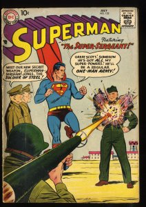 Superman #122 VG- 3.5