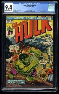 Incredible Hulk (1968) #180 CGC NM 9.4 1st Cameo Wolverine! Marvel Comics