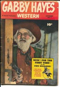 Gabby Hayes #1 1950-Fawcett-1st issue-photo covers-B-western sidekick-VG
