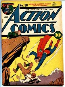 ACTION COMICS #38-SUPERMAN-1941-DC GOLDEN-AGE-COMIC BOOK