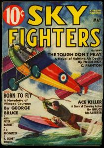 SKy Fighters Pulp May 1937- Frandzen cover- George Bruce- Frederick Painton VG
