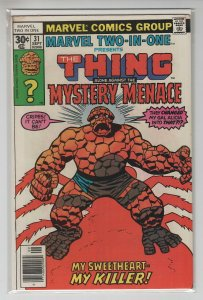 MARVEL TWO-IN-ONE (1974 MARVEL) #31 FN+ A67689