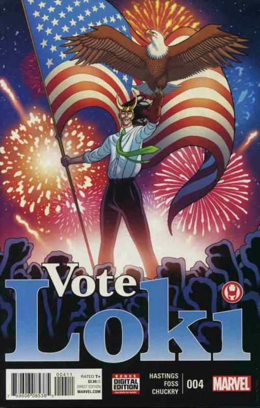 VOTE LOKI (2016 MARVEL) #4 NM- A99385