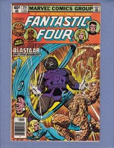 Fantastic Four #215 VF Blastaar 1st Appearance Futurist Marvel 1980