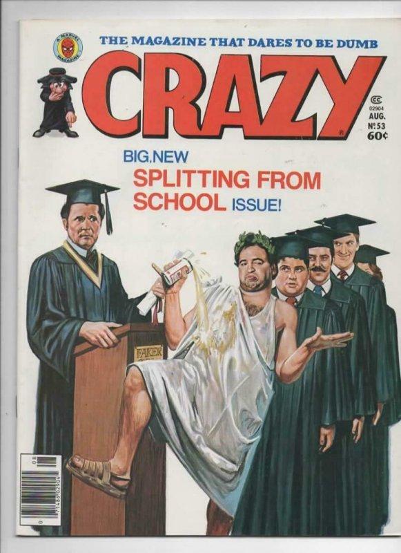 CRAZY #53 Magazine, VF, Animal House John Belushi, 1973 1979, more in store