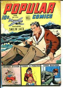 Popular  #112 1945-Dell-Smilin' Jack-Gang Busters-Gasoline Alley-Caniff-VG+