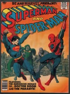 Superman And Spider-man #28-Marvel treasury Edition-DC-superhero team-up-VG/FN