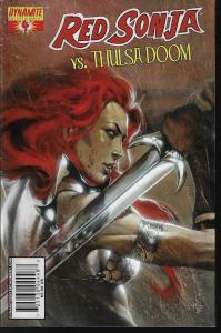 Red Sonja vs Thulsa Doom #4 (Dynamite) - Gabrielle Dell'Otto  Cover