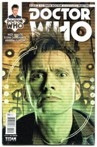 DOCTOR WHO #10 B, NM, 10th, Tardis, 2015, Titan, 1st, more DW in store, Sci-fi