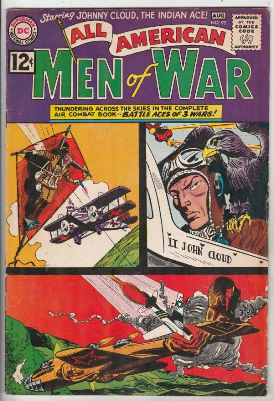 All-American Men of War #92 (Aug-62) VF High-Grade Johhny Cloud