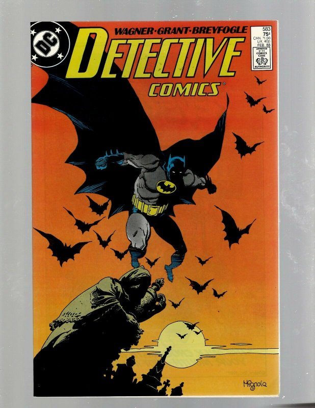 Detective Comics # 583 NM- DC Comic Book Feat. Batman Joker Gotham Robin J450
