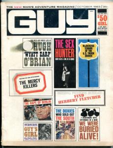 Guy Magazine #1 October 1963-Prison Riot-Hugh O'Brian- Herbert Fletcher