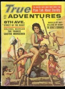 TRUE ADVENTURES PULP-8/1961-FIGHTING GIRLS-WEIRD MENACE G/VG
