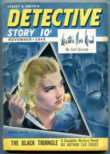 Detective Story Pulp November 1940- Black Triangle- Matter over Mind