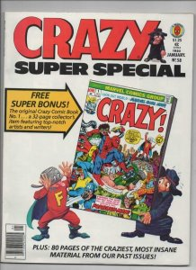 CRAZY #58 Magazine, VF, w/ comic Insert, Super Special, 1973 1980, more in store