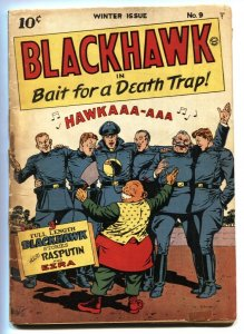 BLACKHAWK #9-First issue-Golden-Age comic book Quality 1944
