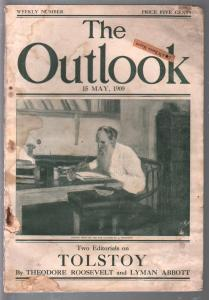 Outlook 5/15/1909-Tolstoy-Theodore Roosevelt-NY Stock Exchamge-taxes-G/VG