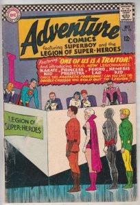Adventure Comics #346 (Jul-67) VG+ Affordable-Grade Legion of Super-Heroes, S...