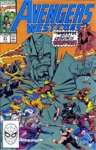 Avengers West Coast #61, VF+ (Stock photo)