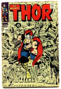 THOR #154 comic book-1968-JACK KIRBY-MARVEL-SILVER AGE VG