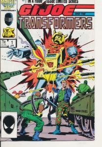 Marvel G. I. Joe  and the Transformers Marvel Comics #1 ~ Fine+ (6.5) (393J)