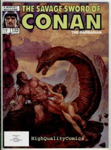 SAVAGE SWORD of CONAN #125, VF+, Kull the Conqueror, God, more SSOC in store