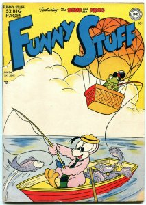 Funny Stuff #54 1950- DC Funny Animals- Dodo and Frog -fishing cover FN-