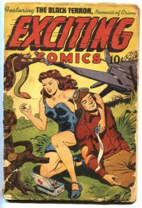 Exciting Comics #56 1947- Black Terror- Schomburg cover- bargain