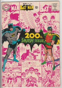 Batman #200 (Mar-68) VG/FN Mid-Grade Batman