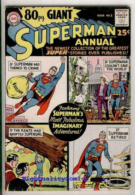 80-PAGE GIANT 1, FN, Superman Annual, SuperGirl, Smallville, 1964