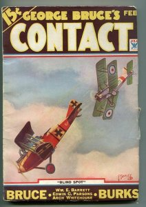 GEORGE BRUCE'S CONTACT 02/1934-WWI AVIATION-BI-PLANE-FRANK TINSLEY COVER-vf