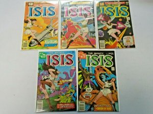 The Mighty Isis #1,2,5,6,7 5 Different 6.0 FN (1976 & 1977)