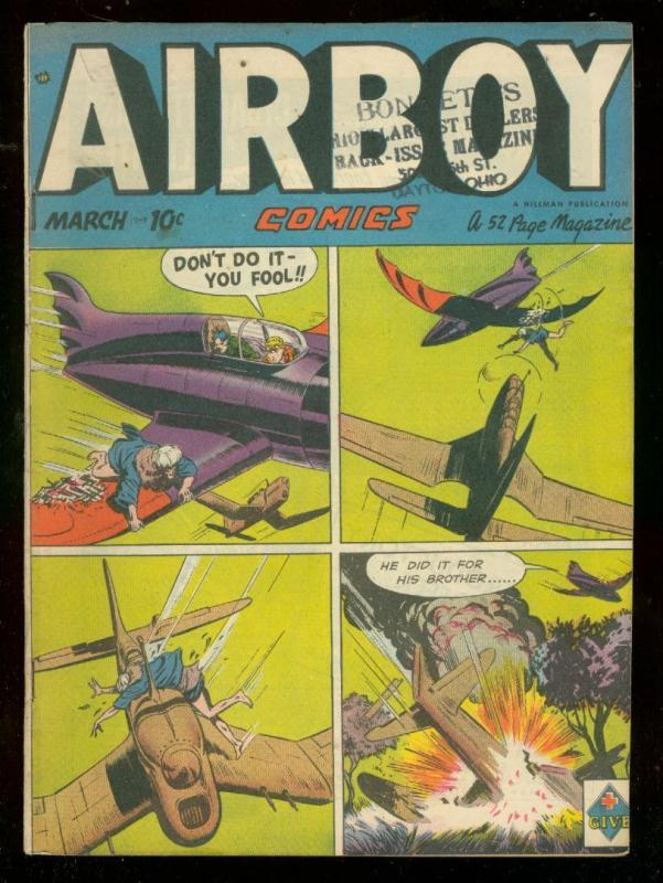 AIRBOY COMICS v.6 #2 1949-HILLMAN COMICS-CORNELL-BOXING FN