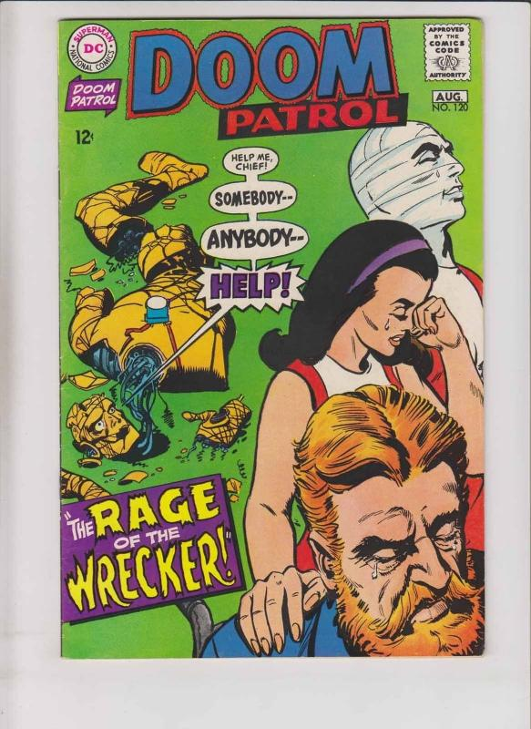 Doom Patrol #120 VF august 1968 - rage of the wrecker - silver age dc comics