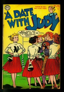 Date with Judy #44 1954- Cheerleader cover- DC  Humor- VG