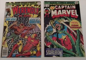 Captain Marvel #40 & Werewolf by Night #42 (Bronze Age!)