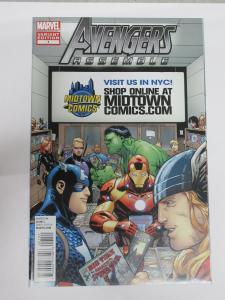 Avengers Assemble (Marvel 2012) #1 Midtown Comics Shop Variant Cover