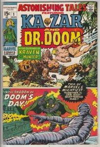 Astonishing Tales #1 (Aug-70) VF/NM+ High-Grade Ka-Zar, Doctor Doom