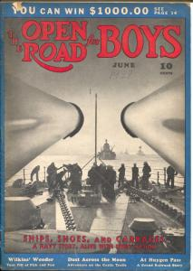 Open Road For Boys 6/1938-Navy photo cover-Clarence Doore-Pre WWII-VG