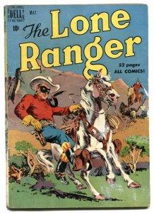 Lone Ranger #23 1950- Dell Golden Age Western comic VG-