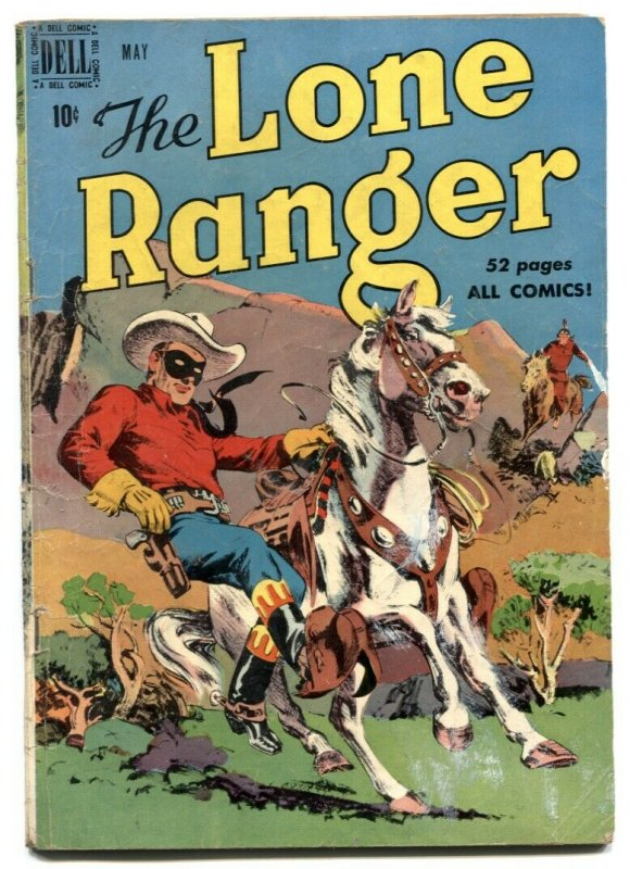 Lone Ranger #23 1950- Dell Golden Age Western comic VG-