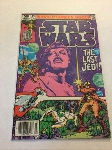 Star Wars 49 Nm- Near Mint- Newsstand Edition Marvel Comics