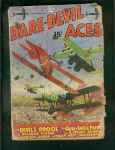 DARE-DEVIL ACES PULP-JAN 1936-DEVILS DROOL-OB MYERS-WWI FR/G