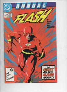 FLASH #1 Annual, VF+, Mike Baron, Jackson Guice, 1987, more DC in store