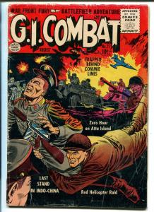 G.I. COMBAT #27 1955-QUALITY-EXPLOSION COVER-COMMIES-vg minus