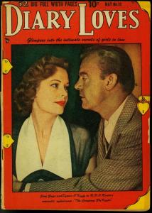 Diary Loves #10 1951 Golden Age Romance- Photo cover- Jane Grey VG