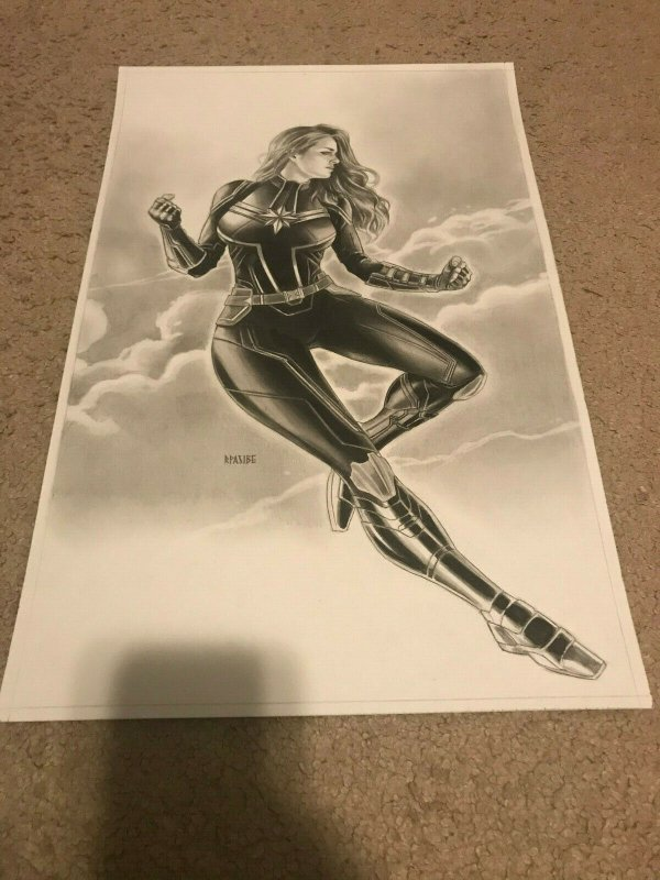 Captain Marvel - Original Art by Ryan J. Pasibe