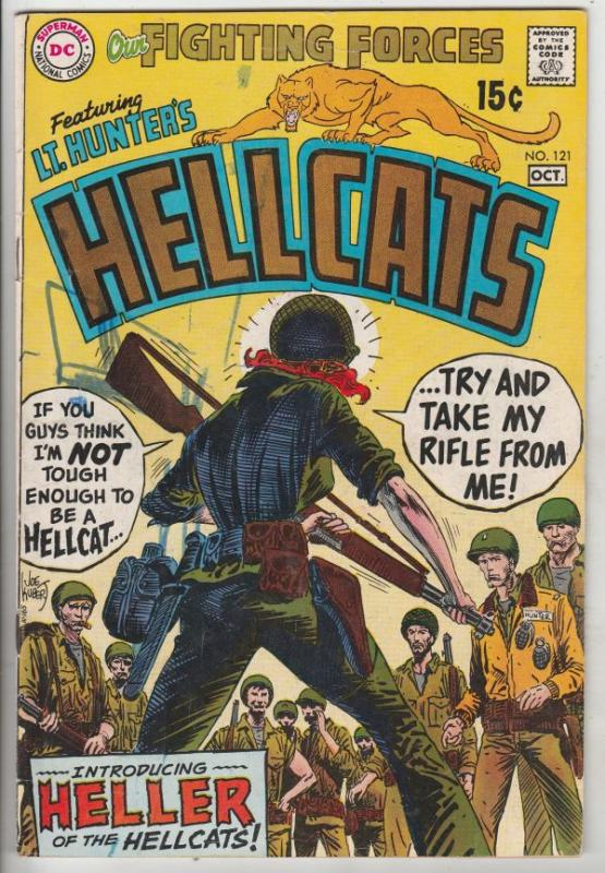Our Fighting Forces #121 (Oct-69) VG+ Affordable-Grade Lt. Hunter's Hellcats